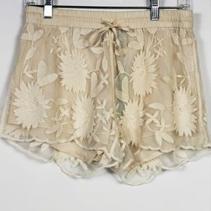 Solitaire Swim Shorts Embroidered Lace